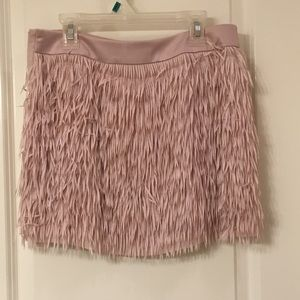 Pink Fringe Express Skirt